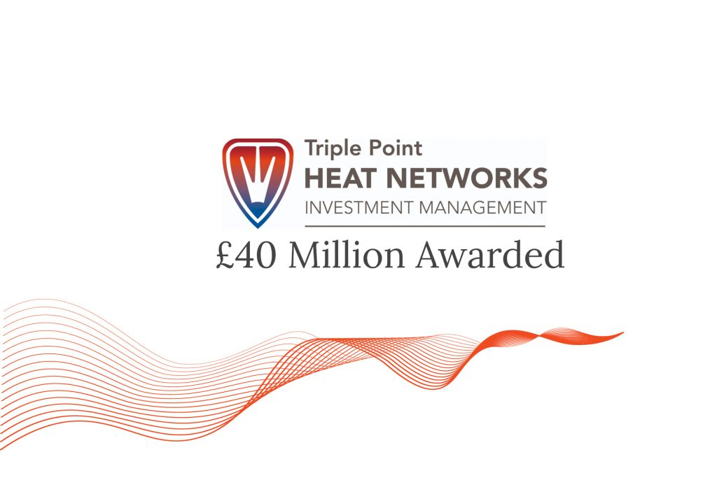 Triple point heat networds £40 million awarded graphic